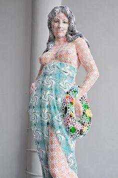 Joana Vasconcelos crochet covered artwork