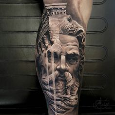 What does zeus tattoo mean? We have zeus tattoo ideas, designs, symbolism and we explain the meaning behind the tattoo. Gods Tattoo, Greek God Tattoo, 3d Tattoos, Body Art Tattoos, Tattoos For Guys, Best Tattoos, Tattoo Sleeve Designs, Sleeve Tattoos, Arlo Tattoo