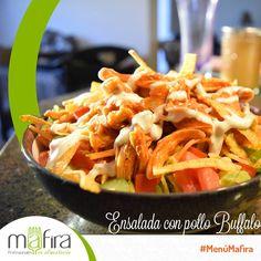 ¿Listos para su ensalada con pollo Buffalo? Con #Mafira llevar una alimentación saludable nunca será aburrido.