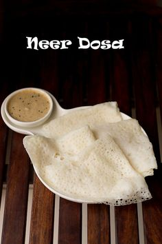 Neer Dosa Recipe - a light, soft, lacey and delicious dosas from the Karnataka region. These are prepared mainly with soaked rice and fresh grated coconut. Indian Breakfast, Breakfast For Dinner, Breakfast Recipes, Breakfast Ideas, Dinner Recipes, Veggie Recipes, Cooking Recipes, Veggie Meals, Bienenstich Recipe