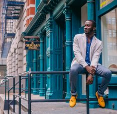 We do happy quite well. Chad wearing our mustard tassel pair #mensstyle #darashoes #weardara