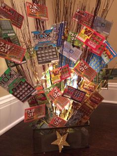, Lottery Tree, Raffle Basket, Fundraiser Idea, Lottery Gift Basket ...