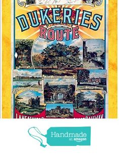 """Dukeries Route - Lancashire, Derbyshire & East Coast Railway"" A4 Glossy Vintage Railway Poster Art Print from The Andromeda Print Emporium https://www.amazon.co.uk/dp/B071GNTBKZ/ref=hnd_sw_r_pi_dp_jc.pzbE03CE2Q #handmadeatamazon"