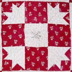 Signature block from quilt in the collection of the Maryland Historical Society