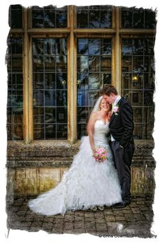 Bride and Groom at front of Dumbleton Hall Groom, Weddings, Bride, Wedding Dresses, Photography, Fashion, Wedding Bride, Bride Dresses, Moda