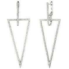 2B|UNIK Durchzieh Ohrringe Mode Tropfen Kristall Feder Silber Lang Ohrhänger