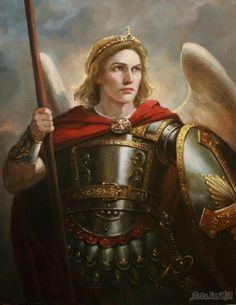 Archangel Michael by Andrey Shishkin Michael Angel, Archangel Michael, St Michael, Male Angels, Black Angels, Angel Pictures, Jesus Pictures, Albrecht Durer, Angel San Rafael