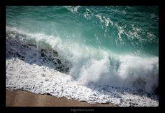 О море...