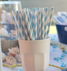 Lynn + Lou: Nautical Baby Shower, great idea for dessert table.