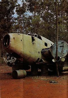 An abandoned Hudson Bomber in Arnhem Land, (Northern Territory), Australia.