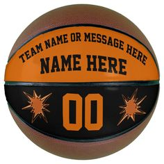 Orange and Black Custom Basketball Full Size Mini - tap to personalize and get yours  #senior #night #basketball #senior #seniors Personalized Basketball, Custom Basketball, Basketball Gifts, Basketball Season, Basketball Players, Basketball Court, Basketball Awards, Christmas Gifts For Boys, Team Gifts