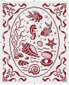 Nautical cross stitch motifs