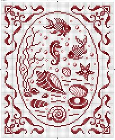 Nautical cross stitch motifs