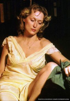 """The lovely Meryl Streep in """"Sophie's Choice"""" (1982), based on the novel by William Styron.Looks like a Pre-Raphaelite Painting."""