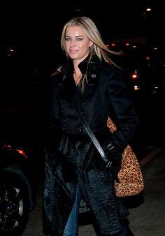 Rebecca Romijn wearing the large leopard Hung On U #rebeccaromijn #hungonu #leopard