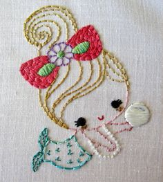 'Merbabies' embroidery pattern by Ellia Hill.  Her Etsy shop: https://www.etsy.com/shop/greenbeanbaby?ref=l2-shopheader-name