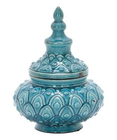 Look at this Blue Genie Ceramic Jar on #zulily today!