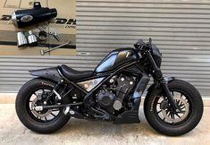2017 Exhaust Slip on Diablo short Honda CMX 500 Rebel 500 black stainless steel Honda Rebel Bobber, Honda Rebel 300, Honda Bikes, American Motorcycles, Old Motorcycles, Harley Davidson Street Glide, Harley Davidson Motorcycles, Scrambler Motorcycle, Motorcycle Gear