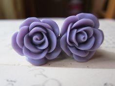 Plugs-  Gauges - Light Purple Roses 10g and 8g