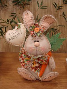 - by Cris Figueired♥ Rabbit Crafts, Bunny Crafts, Felt Crafts, Easter Crafts, Diy And Crafts, Spring Crafts, Holiday Crafts, Diy Ostern, Easter Projects