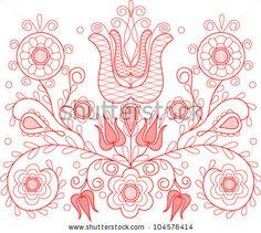 Vector illustration of beautiful Transylvanian hungarian folk motif by irmus, via Shutterstock