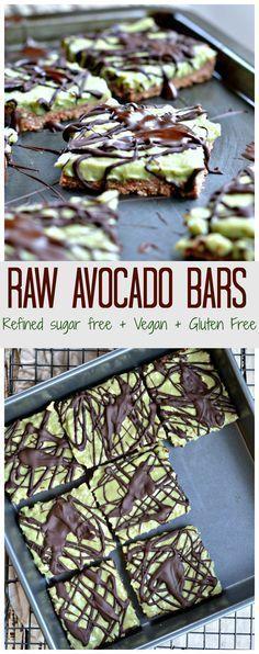 Raw Avocado Bars- sub rice syrup for paleo