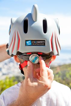 Don't forget the light! All our helmets have integrated light in adjustment wheel. Help junior to use it when the sun goes down. #crazysafety #safety #helmet #bikehelmet #bike #biking #protection #outdoor #family #skate #skatehelmet #kids #children #toddlers