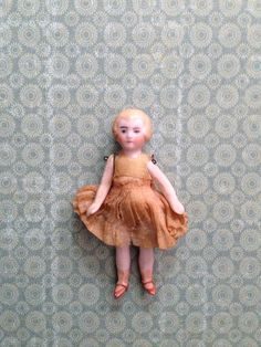 Tiny Antique Vintage Bisque Dollhouse Doll Flapper on Etsy, $49.00