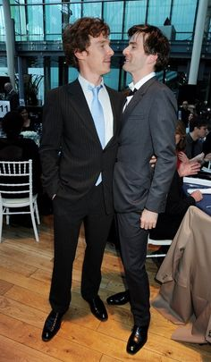 Benedict Cumberbatch and David Tennant. Imagine if they were in the same show together......