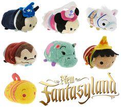 Fantasyland Tsum Tsum Collection - Fantasyland Mickey, Minnie, Horse, Mr. Toad, Hippo, Boy, and Tea Cup