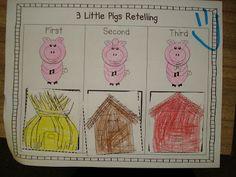 Primary Press: Three Little Pigs Fun and This Week's Workshops Nursery Rhymes Preschool, Kindergarten Literacy, Kindergarten Activities, Book Activities, Literacy Centers, Fairy Tales Unit, Fairy Tale Theme, Traditional Tales, Farm Unit