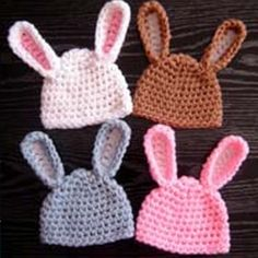 These Floppy Easter Bunny Ear hats are super cute . They are great for Easter celebration . I can't wait to make this one with crochet flower decoration .