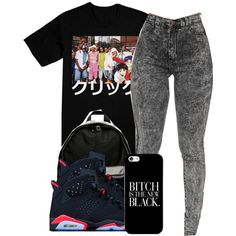 A fashion look from November 2014 featuring skinny jeans, nike backpack and black shoes. Browse and shop related looks.