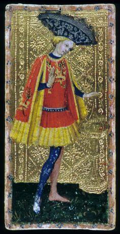 "1. ""Knave of Hearts,"" 1432 - Waist length jerkin. Funnel sleeves"