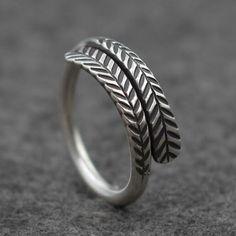 Women's Sterling Silver Branch Pattern Wrap Ring