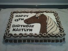 Brown and Tan Horse Cake Made by momma @Susie Ward