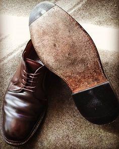 2018/02/18 12:12:37 a.k19820420 #japan #tokyo #toshimaku #ikebukuro #alden #cordovan #shoes #shoerepair #usa #madeinusa #ships #10yearsafter #日本 #東京都 #豊島区 #池袋 #くつ修理工房glue #オールデン #コードバン #靴 #靴修理 #アメリカ #アメリカ製 #シップス #10年経過