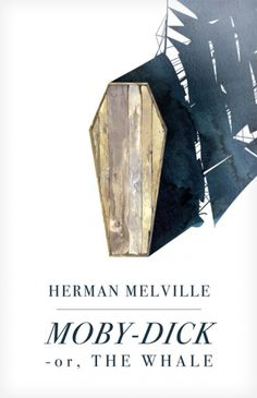 This book cover takes a unique and fresh approach to representing the classic tale of Moby-Dick.  I think that the most successful part of this book cover is the fact that the designer was able to accurately communicate the message of the book, without using the cliched image of the whale itself and the book cover design also shows some constrained visual language effects.