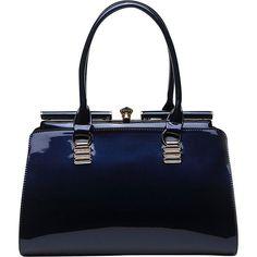Mkf Collection Jennifer Shoulder Bag ($32) ❤ liked on Polyvore featuring bags, handbags, shoulder bags, blue, handbags purses, patent leather handbags, blue shoulder bag, shoulder handbags and handbags shoulder bags