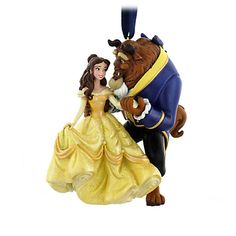 Your WDW Store - Disney Christmas Ornament - Couples - Belle and Beast