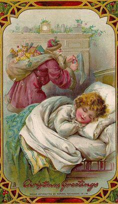 Ada Leonora Bowley - English - (1866-1943) vintage Christmas postcard