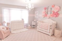 Below are a few baby girl nursery pattern ideas for all of personal design, sheet, and home furnishings baby nursery ideas Blush Nursery, Nursery Room, Nursery Decor, Girl Nursery Rugs, Nursery Wall Collage, Nursery Sets, Flower Nursery, Baby Bedroom, Baby Room Decor