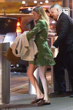 Margot Robbie wearing Realisation Par the Kate Summer Loving Green Dress