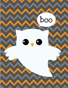 Halloween Cupcake Toppers Ghost and Owl Placecards Halloween Printable Banner Boo Owl Printables Whether you ar. Halloween Owl, Halloween Banner, Halloween Goodies, Halloween Quotes, Holidays Halloween, Halloween Crafts, Happy Halloween, Kawaii Halloween, Halloween Party