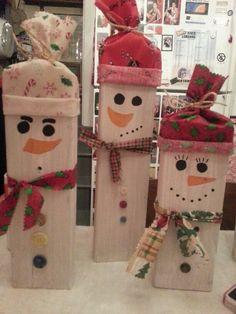 2x4 block snowman...soooo cute!!!!