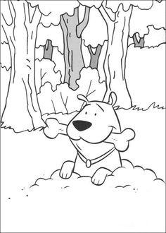 Desenhos para colorir para crianças. Desenhos para imprimir e colorir Clifford 19