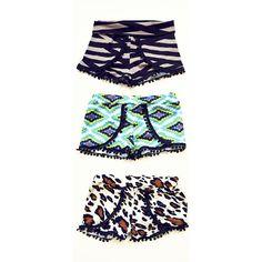Mini Pom Shorties || Baby Shorties || Sizes 6m, 12m, 18m, 2T, 3T, 4T, 5T #pompomshorts