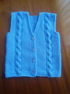 Knit Vest, Baby Knitting Patterns, Free Pattern, Sons, Sweaters, How To Wear, Fashion, Sew Baby, Shearling Vest