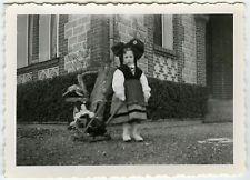 PHOTO ANCIENNE - ENFANT JOUET ALSACE FLOU - CHILD TOY FASHION - Vintage Snapshot