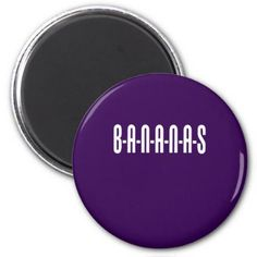 #Bananas Spelled Out Funny Magnet - #cute #gifts #cool #giftideas #custom
